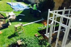 Installing conservatory frames