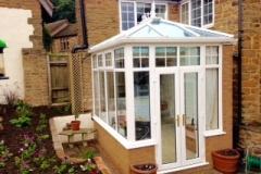Small uPVC conservatory installation