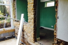 Remove external wall for open plan conservatory
