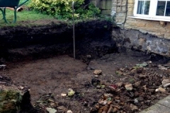 Ground works for conservatory base