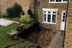 Digging out conservatory foundations