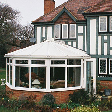 Victorian conservatory with insulated roof