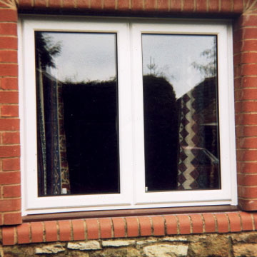 White uPVC French window