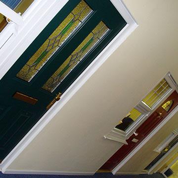 Entrance doors in the Milton Keynes showroom