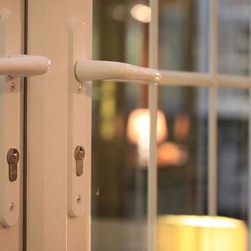 uPVC French door handles