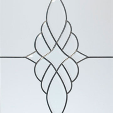 Leaded glass patterns for windows and doors