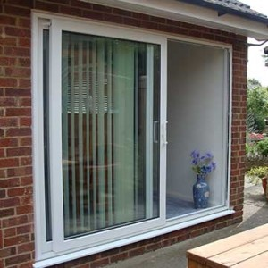 White patio door installation