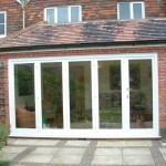White uPVC bifold door set- patio door style