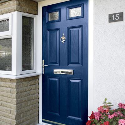Blue composite entrance door -summer offers - new front door