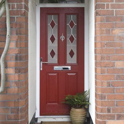 Composite door window detailing