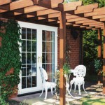 White uPVC French doors - glass doors