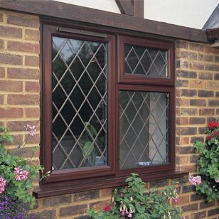 Double glazing with diamond leaded windows
