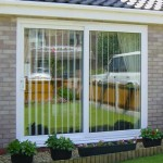 White sliding patio doors