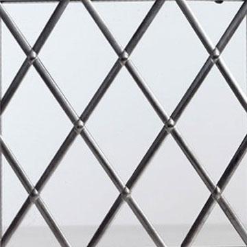 Diamond leaded glass