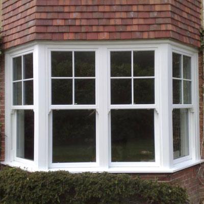 uPVC sash bay windows