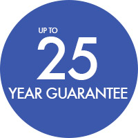 Up to 25 year guarantee