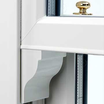 uPVC sash window horn