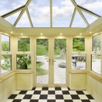 Cream orangery with French doors