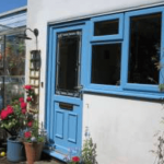 Blue uPVC windows and doors Bedford