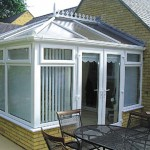 Small white classic Edwardian conservatory