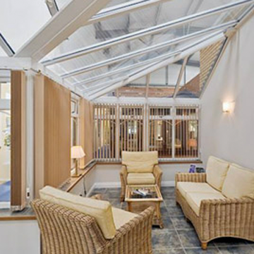 Lean-to conservatory interior