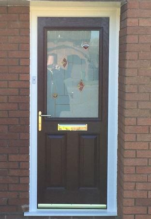Black composite front door