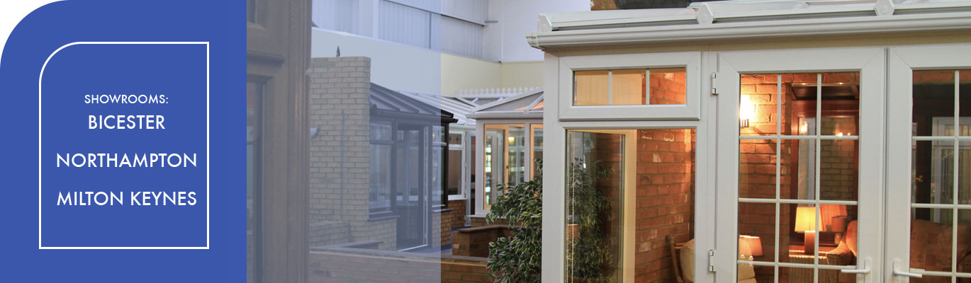 White uPVC conservatory in Win-Dor showroom