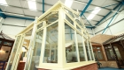 Cream orangery in Win-Dor conservatory showroom