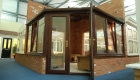Brown conservatory in Win-Dor showroom