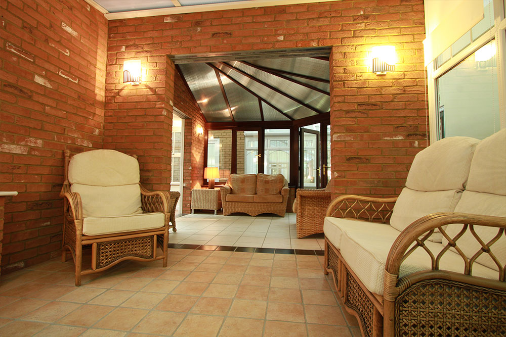 Inside of a conservatory showroom extension