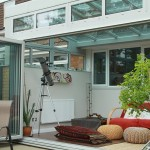 Bifolding doors on a reverse lean-to conservatory