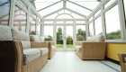 Grey uPVC reverse lean-to conservatory