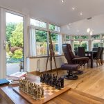 Solid roof conservatory extension interior