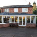 Solid tiled conservatory roof installation