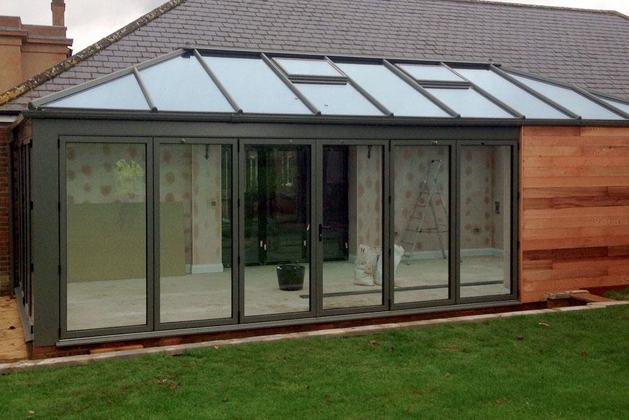 Bespoke Timber and aluminium conservatory