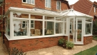 Large Chartwell Green glass roof conservatory