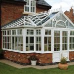 White uPVC T-Shaped Conservatory