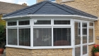 White uPVC victorian conservatory tiled roof