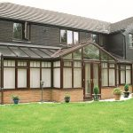 Brown uPVC T-Shaped Conservatory