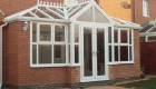 Cream orangery with interior pelmet