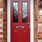 Red traditional Composite Door