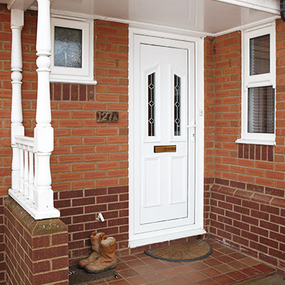 uPVC Entrance Door in White