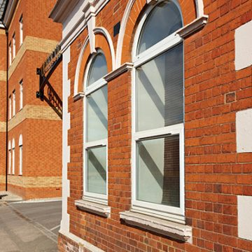uPVC Windows with arched tops