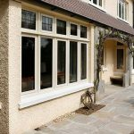 Aluminium casement window front