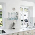 Aluminium casement window kitchen