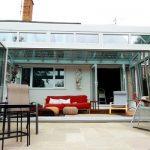 Modern bifold doors residential aluminium exterior