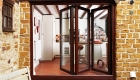 bifold doors wood finish