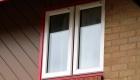 Coloured uPVC window red frame