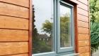 Coloured window gray cladding