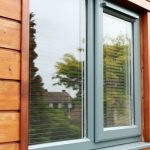 Coloured window gray cladding